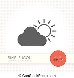 Minimal flat weather icon isolated on simple background...