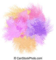 Abstract watercolor splash Watercolor drop Digital art...
