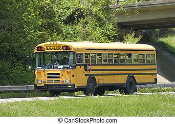School Bus On Field Trip