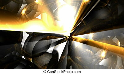 gold sunlight through crystal ball - animation of golden...