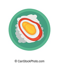 yellow shellfish and salad vector