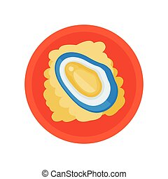 shellfish and salad vector