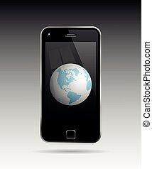 Globe In Mobile Phone