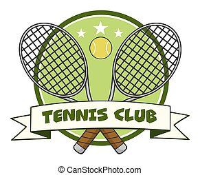 Crossed Racket And Tennis Ball Logo
