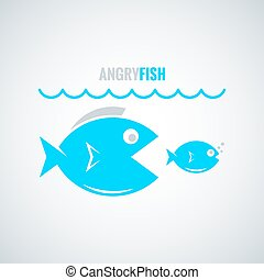 fish concept design background - fish business concept...