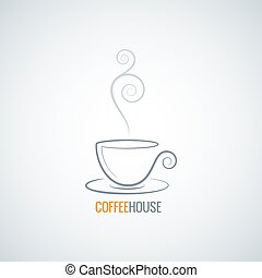 coffee cup ornate vector background 8 eps