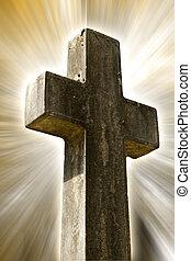 stone crucifix