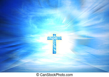 crucifix against cloudy sky illustration