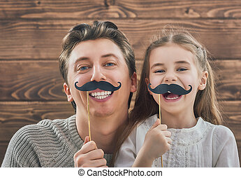 Father and his daughter - Funny family! Father and his child...