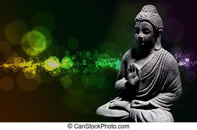 Zen buddha statue - Generic zen stone buddha statue with...