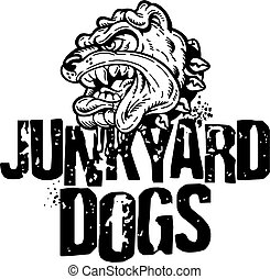 junkyard dogs - distressed junkyard dogs team design with...