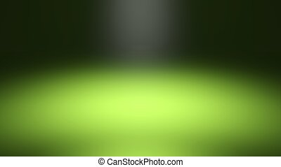 Green blurred spotlight, dark abstract background