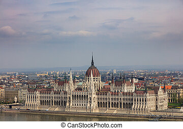 Hungarian Parliament Building, Budapest Hungary.