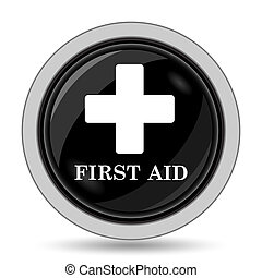 First aid icon Internet button on white background