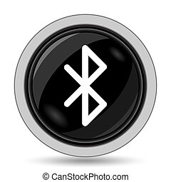 Bluetooth icon Internet button on white background