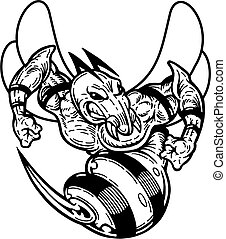 hornet - black and white hornet mascot for school, college...