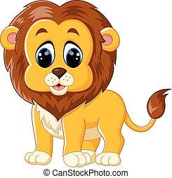 cute baby lion cart