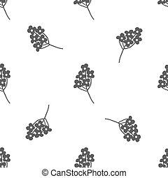 Hand drawn floral seamless pattern - Hand drawn black and...