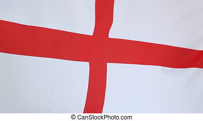 Flag of English soccer - Textile flag of English soccer in...