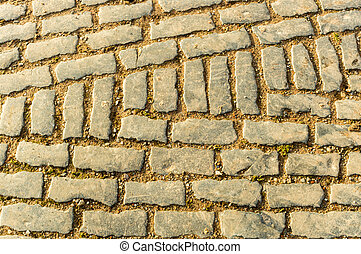 Cobbles - A pattern in a old cobblestone footpath