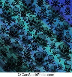 Defocused creative pirates skulls