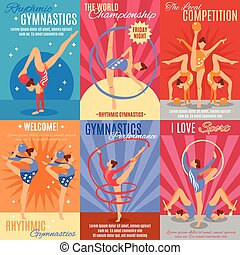 Collection Of Rhythmic Gymnastics Posters - Collection of...
