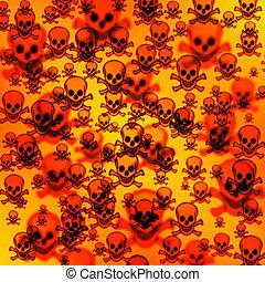 Defocused creative pirates skulls background