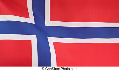 Flag of Norway in slow motion