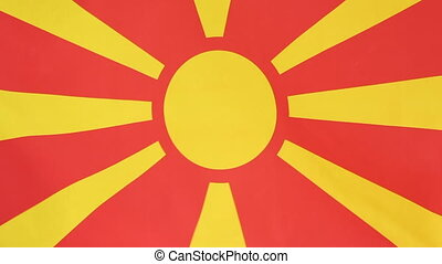 Flag of Macedonia in slow motion - National flag of...