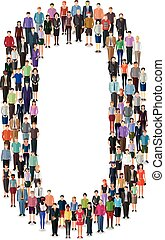number formed by people
