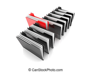 Selected Folder - 3D rendered Illustration Isolated on white...