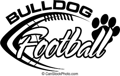 bulldog football - black and white bulldog football team...