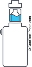 Icon or logo with electronic cigarette