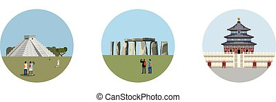 Stonehenge icon isolated on white background Vector...