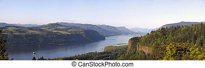 Columbia River Gorge OR.,panorama.