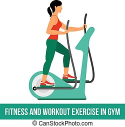 Aerobic icons. full color 03 - Fitness, Aerobic and workout...