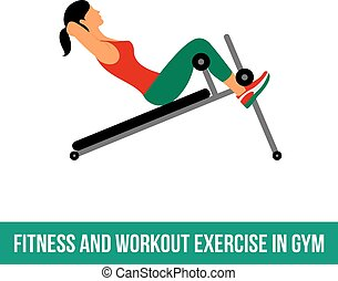 Aerobic icons. full color 06 - Fitness, Aerobic and workout...