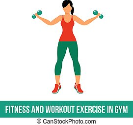 Aerobic icons. full color 07 - Fitness, Aerobic and workout...