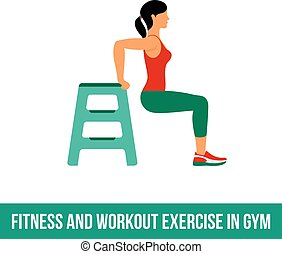Aerobic icons. full color 08 - Fitness, Aerobic and workout...