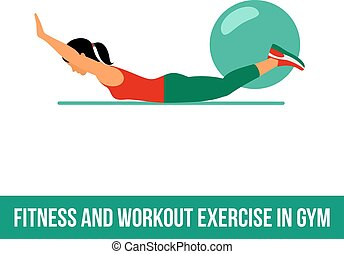 Aerobic icons. full color 10 - Fitness, Aerobic and workout...