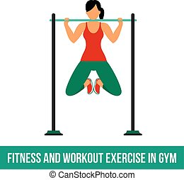 Aerobic icons. full color 13 - Fitness, Aerobic and workout...