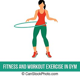Aerobic icons. full color 14 - Fitness, Aerobic and workout...