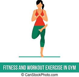 Aerobic icons. full color 16 - Fitness, Aerobic and workout...