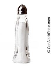 salt shaker on white background