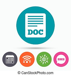 File document icon Download doc button - Wifi, Sms and...
