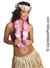 Tropical Woman - Tropical hawaiian hula woman