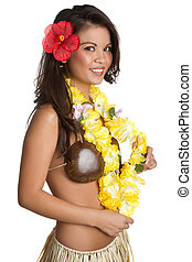Tropcial Hula Girl - Tropical hula girl dancer