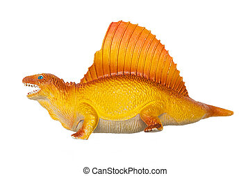 Dinosaur - Dimetrodon grandis on the white background