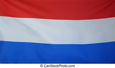 Netherlands Flag real fabric - Textile flag of Netherlands...