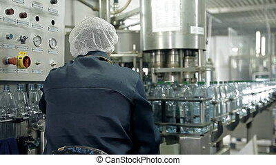 The control of a production line for bottling mineral water...